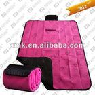 Pink fleece picnic rug