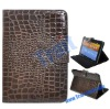 Crocodile Stand Leather Case for Samsung Galaxy Tab 8.9 P7300/P7310(Brown)