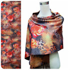double layer digital print 100% silk scarf