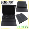 Fashionable Portable Leather Case with Bluetooth Keyboard for Ipad