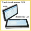 7 inch TFT touch screen Car Navigation GPS + free maps +4GB memory+Bluetooth+AV+ 128M RAM WIN CE6 .0 7''YC-G71-BA
