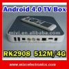 Newest Android TV Box Android 4.0 Rockchip RK2908 512M/4G HDMI WiFi Ethernet