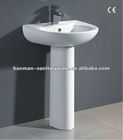 ceramic pedestal sink with CE HM-BP-03