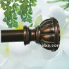Classcial shower curtain rod with poly finial