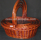 wicker oval basket with handles