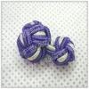 Fashion elastic silk knot cufflink