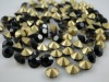 Black Pointback Rhinestone