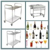 stainless steel kitchen equipment service cart