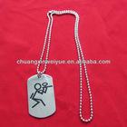 engrave dog tag aluminium