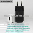 DC5V/1A Round pin EU usb home charger for Cell phone
