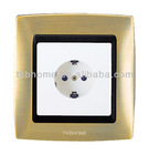 New designed wall switch and socket with Alloy frame + PC panel