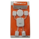 Cute White Human Shape Laptop PC USB 2.0 Hub 4 Port