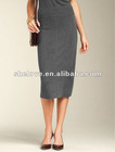 womans Wool Straight Skirt black straight skirts
