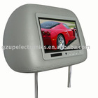 7 inch car TFT LCD headrest monitor with pillow