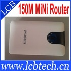 802.11N wifi 150Mbps mini router For andriod apple smartphone/tablet pc/computer and notebok