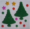 Christmas Tree Removable Window Jelly Gel Sticker (G-0072)
