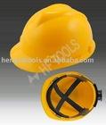 V design hard hat / wheel ratchet safety helmet