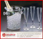 Promotional ice bucket champagne
