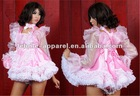Pink&White Shimmering Pansy Sissy Dress