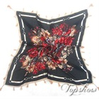 square red rose scarves