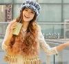 lovely copper ostrich fur vest for girl