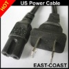 US 2pin UL Power Cable 20AWG