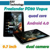 "9.7"" IPS Screen Tablet PC 3G Sim Samsung Exynos 4412 Quad Cortex 2GB Ram Freelander PD80 Vogue"