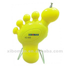 mini cute foot shape fm auto sacn radio for with bulit-in speaker for kids gifts