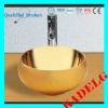 Bathroom Round Gold Countertop Ceramic Washbasin