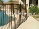 Swimming pool rod iron fence design
