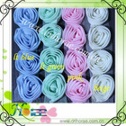 1 row lovely chiffon rose flower lace for wedding dress