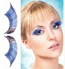 Light-Blue Feather Eyelashes Carnival Makeup Accessories