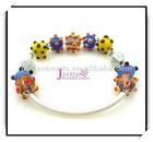 Fashion alloy chain glass beads Bracelet