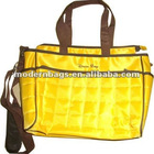 Chequered nylon quilted fabric mommy bag MD-B396