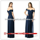 Custom Chiffon Long Empire Pleated Bridesmaid Dresses