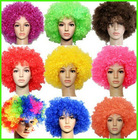 Synthetic Fiber Curly Football Sports Fans Afro Wigs