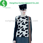 women's newest fashion crew neck collar long sleeve fancy pattern 100%cotton knitted shirt