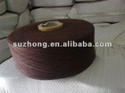 recycle cotton yarn Ne16s/1 for glove knitting brown color