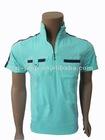 wholesale zipper collar mens t shirts