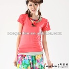 Women Fashion Solid Color T-shirts