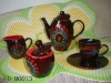 reactive glazed ceramic tea sets