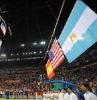 Beijing Olympic Game's level medal award flag raising system