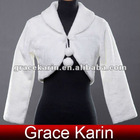 Faux Fur Wedding Bridal Jacket CL2617