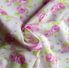 4 way stretch Poly Spandex flower transfer printed fabric