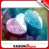 heart shape crystal USB, OEM crystal USB