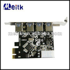 VIA VL800 Chipset 4 port usb3.0 pci express card