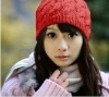 100% knitted wool hats for girls