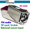 XS-008 Portable audio tf card speaker TF Card Speaker with FM Radio U Disk External Source Input