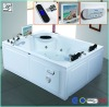 Perfect TV bathtub with apron,bathtub with jacuzzi HS-X086