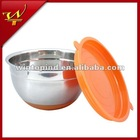Non-slip bottom Mixing Bowl With Plastic Lid